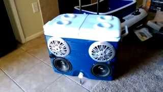 getlinkyoutube.com-Best Stereo cooler ice chest radio cooler Pyle 4 channel amp How to