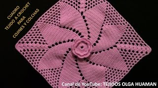 Cuadro # 17 tejido a crochet para cojines y colchas- TEJIDOS OLGA HUAMAN