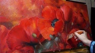 "getlinkyoutube.com-""Мак"" Олег Буйко. Масляная живопись. Oil painting. 油畫  油絵"