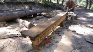 getlinkyoutube.com-Milling logs with the Granberg Alaskan chainsaw mill - Tips and observations