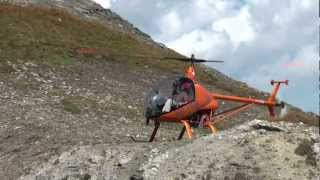 Helicopter CH-7 Kompress, Landing Madrisahorn, 2'700m