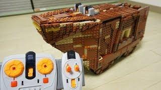 getlinkyoutube.com-LEGO UCS Star Wars 75059 RC Motorized Sandcrawler Review by 뿡대디