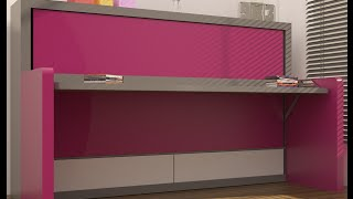 getlinkyoutube.com-10 Desk Murphy Beds - Space Saving Ideas and Designs