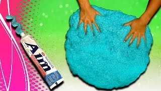 getlinkyoutube.com-How to make Toothpaste Slime! DIY Giant Size slime without borax and liquid starch