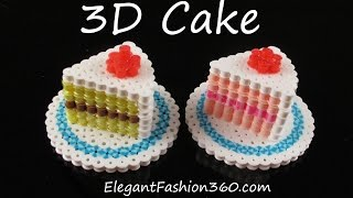 getlinkyoutube.com-Hama/Perler Beads Cake 3D - How to Tutorial by Elegant Fashion 360