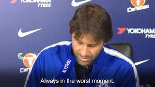 Antonio Conte Gets A Call During Press Conference - 'It's My Wife!'