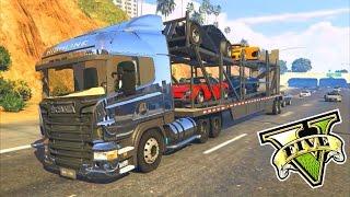 getlinkyoutube.com-GTA V MODS - SCANIA R440!! - Funny Moments GTA 5 - Tramcaman