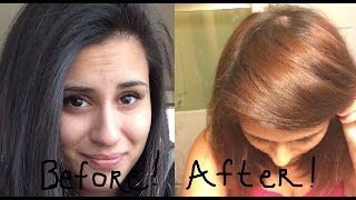 getlinkyoutube.com-Color Oops on black Box dyed hair  - Before and After -  Success!!