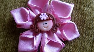 getlinkyoutube.com-DIY Easy Make Magic Flower,, flor listón facil ,vídeo 272