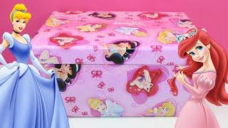 getlinkyoutube.com-Princesas Disney Caja sorpresa | Huevo sorpresa Princesas Disney | Disney Princess unboxing