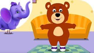 getlinkyoutube.com-Teddy Bear, Teddy Bear - Nursery Rhyme with Karaoke