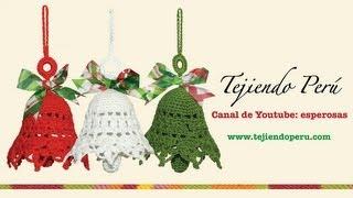 getlinkyoutube.com-Campanas de Navidad tejidas a crochet
