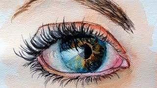 getlinkyoutube.com-How To Paint a Realistic Eye in Watercolor