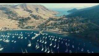 SANTA CATALINA ISLAND Aerial Scenic View (4K Ultra HD)