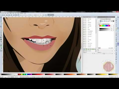 Inkscape Vector Art Time Lapse Face Portrait Speed Drawing Akichuu