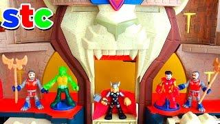 getlinkyoutube.com-Mr Potato Head Thor y El Castillo del Leon de Imaginext