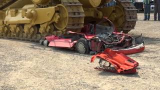 getlinkyoutube.com-Caterpillar D11 versus Pontiac Firefly