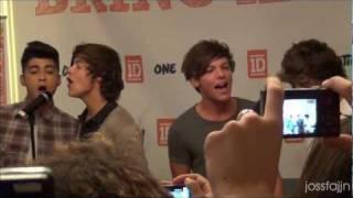getlinkyoutube.com-One Direction Sweden 2/10 2011 Interview & Singing