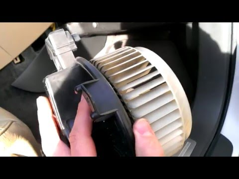 Subaru Tribeca B9 Heater fan/blower removal (06-07)