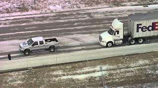getlinkyoutube.com-Ford Pickup Rescues Stuck Semi
