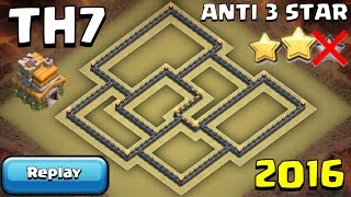 getlinkyoutube.com-Clash of Clans TH7 War Base 2016 + WITH REPLAYS PROOF [Anti 3 Star] - Town Hall 7 CoC