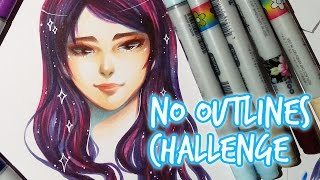 getlinkyoutube.com-CHALLENGE ★ No Outlines Challenge ★ With COPIC