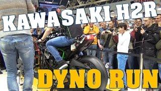 getlinkyoutube.com-Kawasaki Ninja H2R exhaust sound, 326 bhp dyno run - SPARKS FROM EXHAUST!