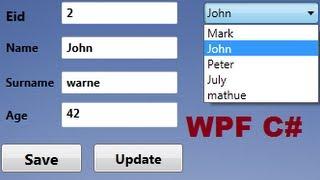 getlinkyoutube.com-C# WPF Tutorial 16- Database values in textbox if select Combobox