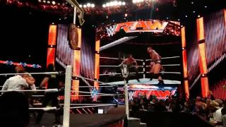 Randy orton returns after WWE Raw 2016  and saves Johncena