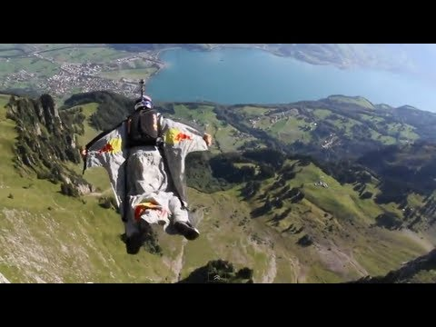 Wingsuit Gliding through the 'Crack' Gorge in Switzerland