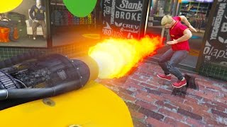 getlinkyoutube.com-ROCKET CAR TROLLING! *HILARIOUS!* | GTA 5 Online