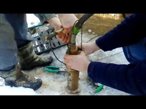 Ремонт насоса Sprut модель 4S QGD1.2-50-0.37/Repair of pump of Sprut