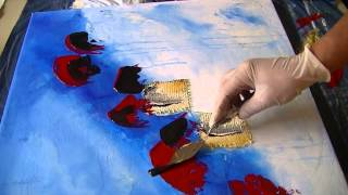 getlinkyoutube.com-Abstract Painting   Abstrakte Spielerei   Demo Acrylmalerei  Speed Painting