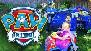 getlinkyoutube.com-PAW PATROL Surprise Tent with Paw Patrol Power Wheels & Paw Patrol Surprise Toys