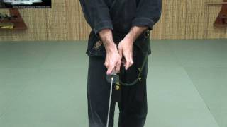 getlinkyoutube.com-Katana 2 - Nuki Drawing the Sword continued - Free Ninjutsu Lesson Online