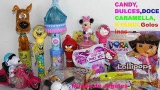 Dulces Bob Esponja,Hello kitty,Scobby Doo,Dora,Planes,Cinderella,Snoopy,Angry Birds Mundo de Jugutes
