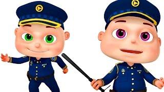 getlinkyoutube.com-Five Little Babies Dressed As Police | Zool Babies Fun Songs | Nursery Rhymes Collection
