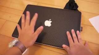 """getlinkyoutube.com-iCarbons Black Carbon Fibre Skin Installation for Macbook Pro 13"""""""