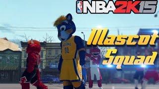 getlinkyoutube.com-NBA 2K15 MyPark Legend 3: The Mascot Squad! Insane Self Alley Oops!