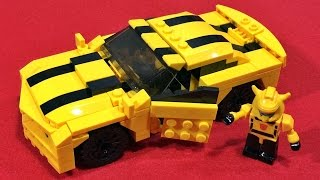 getlinkyoutube.com-트랜스포머 범블비 자동차 쉐보레 카마로 GUDI 레고 호환 블럭 조립 리뷰 lego knockoff kre o transformers bumblebee car