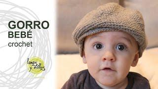 getlinkyoutube.com-Tutorial Gorro o Boina Bebé Crochet o Ganchillo