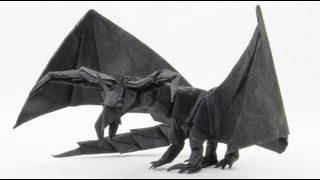 getlinkyoutube.com-How to make an Origami Darkness Dragon 2.0 (Tadashi Mori)
