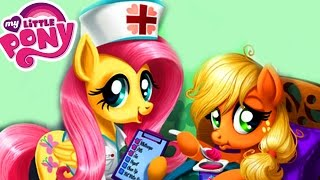 getlinkyoutube.com-My Little Pony Applejack Stomach Medical Care | Doctor Treat MLP Disease Fun Game For Kids
