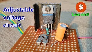 DIY| LM317| How to make Adjustable (1.5v -32v) DC voltage regulator using LM317|Low cost