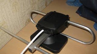 getlinkyoutube.com-Антенна для цифрового эфирного ТВ DBV-T2 своими руками. Сравнение с заводской антенной.