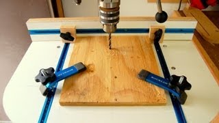 getlinkyoutube.com-Drill Press Table - How to Make - Woodworking Video Tutorial