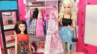 getlinkyoutube.com-لعبة الخزانة و سفر باربى  ألعاب بنات - Barbie wardrobe Playtime Dressing Room
