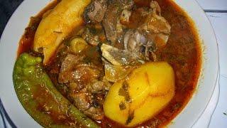 getlinkyoutube.com-مرقة خضرة على طريقة الجنوب التونسي (شكشوكة سلق) - المطبخ التونسي chakchouka (blettes aux poulet)