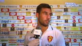 Città di Messina-Due Torri 1-1. Il difensore Cammaroto al termine della gara