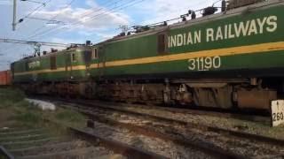 getlinkyoutube.com-Indian Railways: Crazy acceleration by LGD WAG-9 BOXNHL Freight.